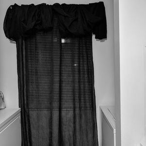 Other - Black Sheer Curtains and Curtain Rod